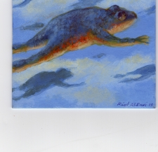 Raed Al Rawi 4x4 inch painting