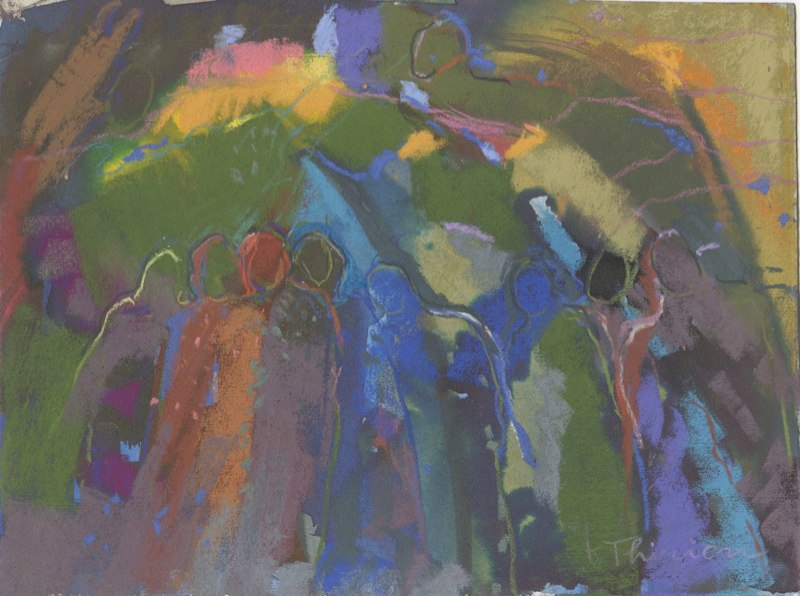 Edges 3 abstract pastel painting by artist Terry Thirion