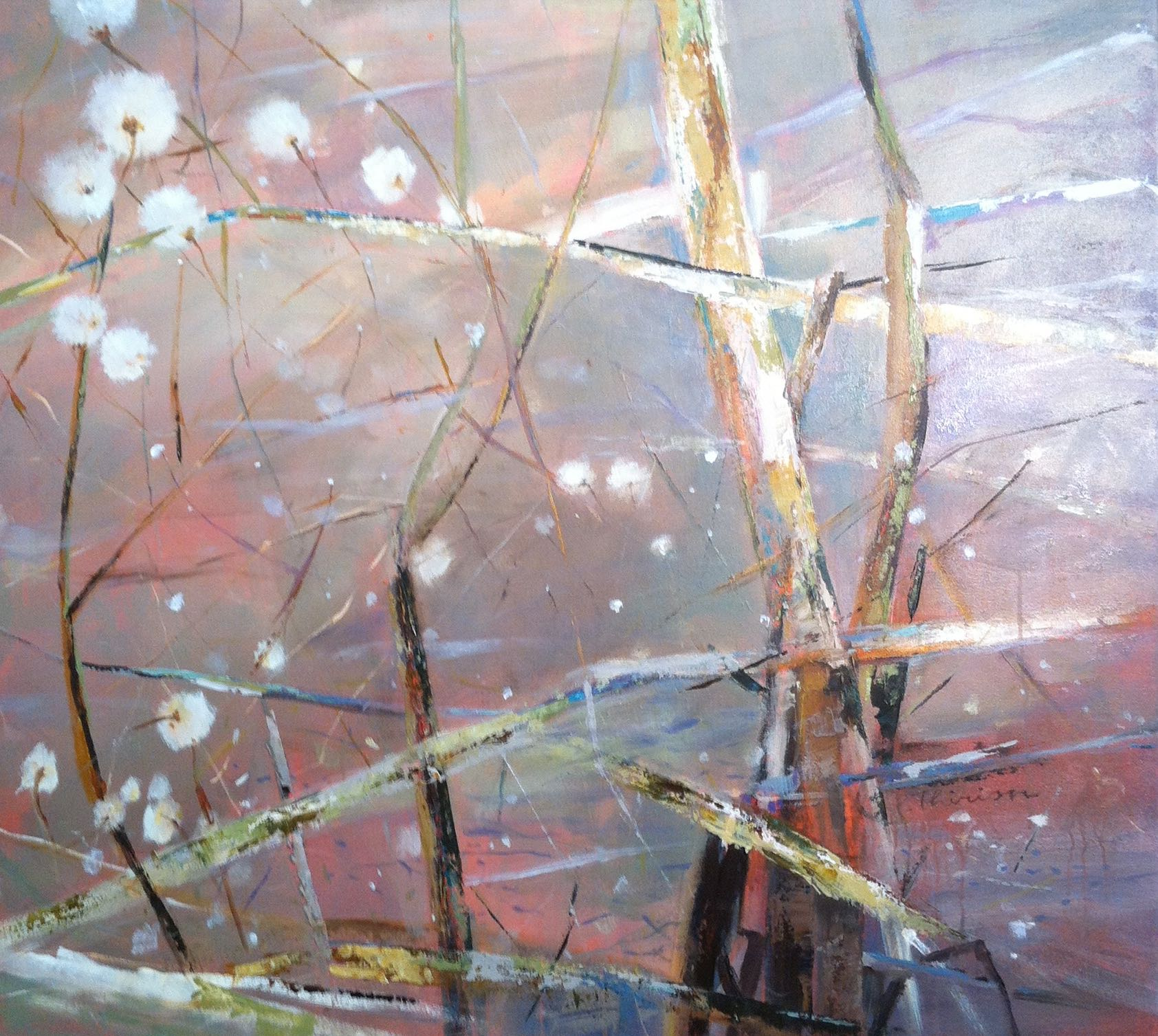 Pond experience 1 - $2,900 Acrylic on canvas