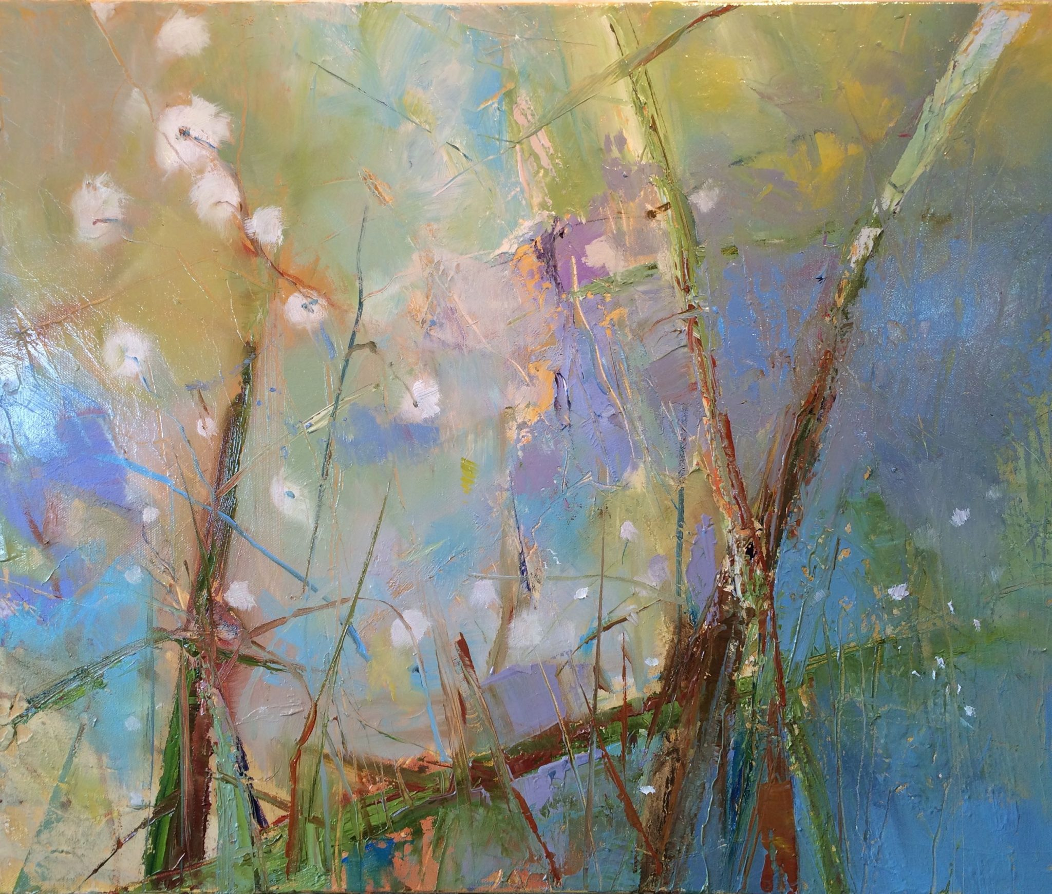 Spring Pond Habitat Painting by Terry Thirion