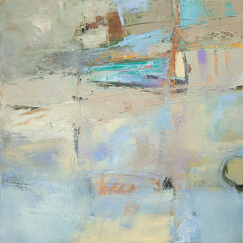 Thirion Abstract, Blue 2, Oil on Canvas 3X36