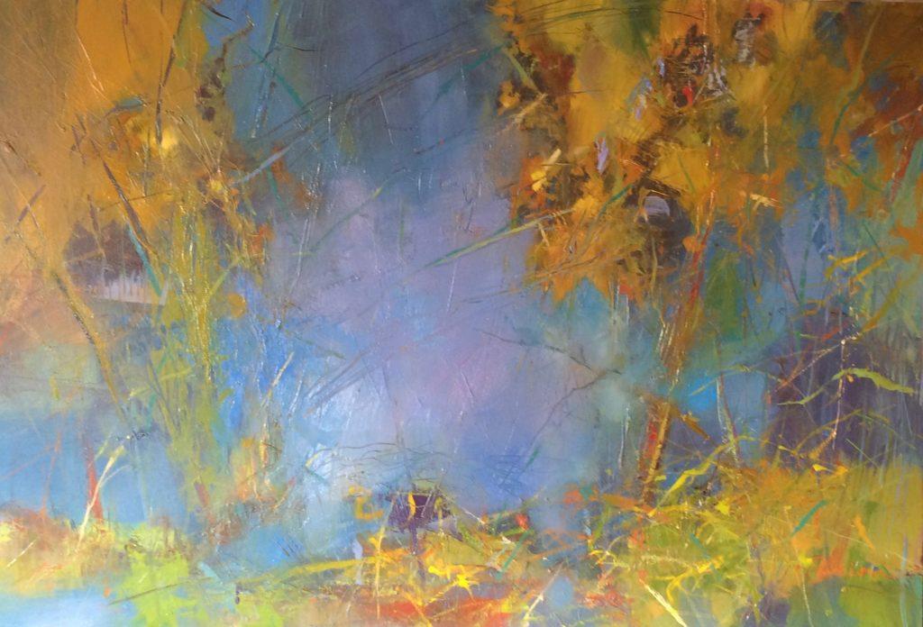 On the Edge, 24X36 oil on canvas